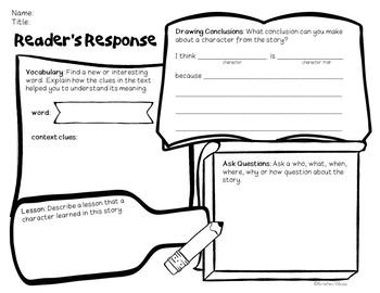 Reader Response Graphic Organizer (Freebie!)