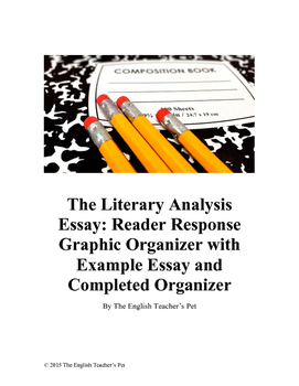 Reader Response Graphic Organizer, with Essay and Organizer Examples