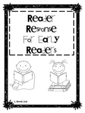 Reader Response Graphic Organizers for Emergent and Early Readers