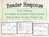 Reader Response Homework Log - Three Choices!