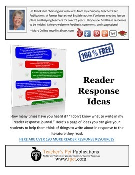Reader Response Ideas For Any Story