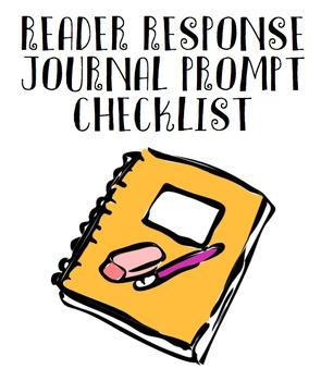 Reader Response Journal Prompt Checklist (over 80 ideas)