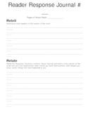 Reader Response Journal Retell Relate Reflect