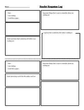 Reader Response Page