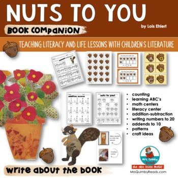 Reader Response Pages - Nuts to You- by Lois Ehlert