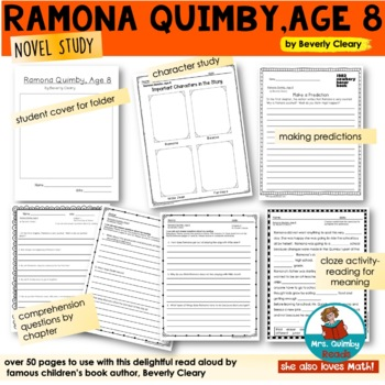 Reader Response Pages - Ramona Quimby, Age 8 - Beverly Cleary- Read Aloud