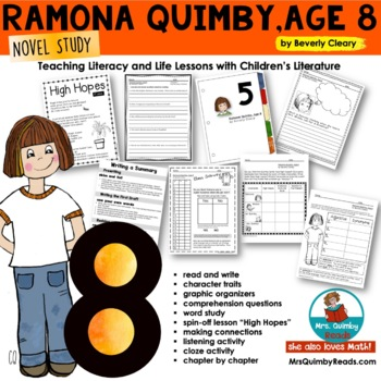 Reader Response Pages   Ramona Quimby, Age 8   *Spin-Off Lesson*