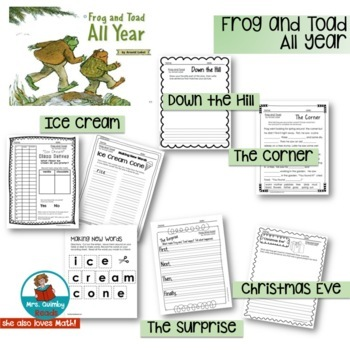 Frog and Toad | (Literacy Instruction) | Reader Response Pages | Book Companion