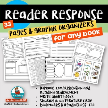 Reader Response Pages for Any Book - Teaching Reading with Children's Literature
