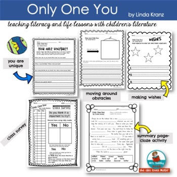 Only One You | Reader Response Pages | [Writing Prompts] Children's Literature