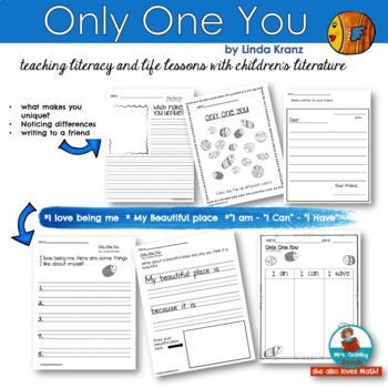 Only One You   Reader Response Pages   [Writing Prompts] Children's Literature