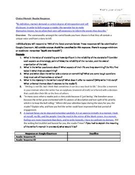 Reader Response Questions-Memoir