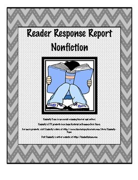 Reader Response Report Bundle - Fiction and Nonfiction