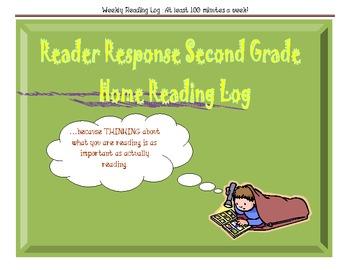 Reader Response Second Grade Home Reading Log