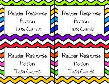 Reader Response Task Cards * Fiction & Nonfiction (28 Comprehension cards each)