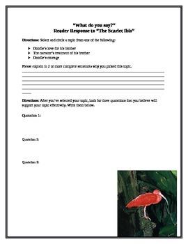 Reader Response The Scarlet Ibis