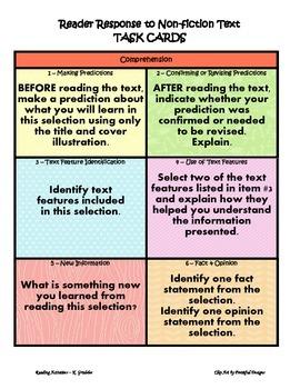 Reader Response to Non-Fiction Text