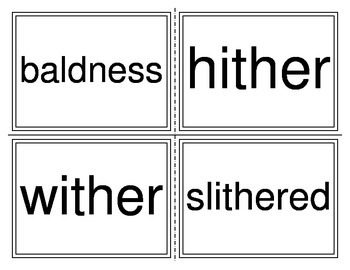Reader Speller Cards-ald, ither, ph