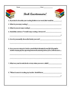 Reader Survey and Interest Survey