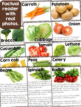 Reader: Vegetables - Nonfictional with real photos