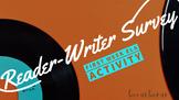 Reader-Writer Survey: Begin the year right!