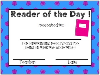 Reader and Writer of the Day Awards