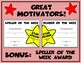 Reader of the Week Certificate - Editable
