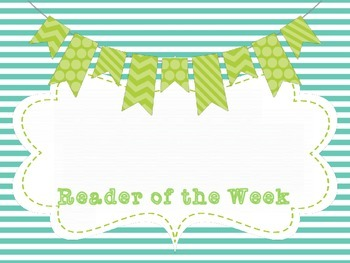 Reader of the Week Sign