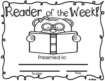 Reader of the week / Lector de la semana bilingual
