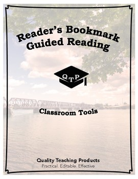 Reader's Bookmark: Scaffolds and Sentence Starters for Reading