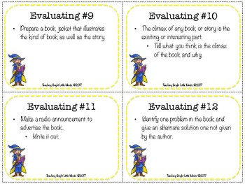 Guided Reading Comprehension Cards and Activities