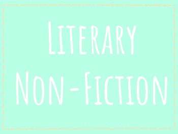 Reader's Circle Literary Non-Fiction Word Wall Posters
