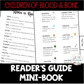 Reader's Guide Mini-Book - Children of Blood and Bone by Tomi Adeyemi