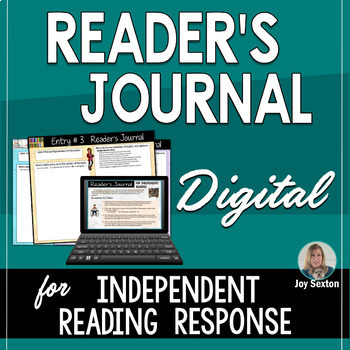 Reader's Journal for Independent Reading DIGITAL - For Google Drive or Microsoft