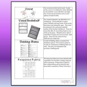 Reader's Notebook--Getting Started With Readers' Notebooks & Reading Identity