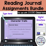 Reader's Notebook Assignments Google Edition Growing Bundle