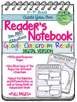 Reader's Notebook-Google Classroom, Digital, Go Google