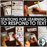 Stations for Learning to Respond to Text