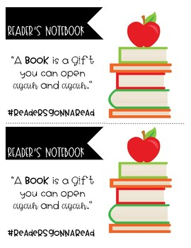 Reader's Notebook Labels
