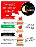Reader's Notebook Labels