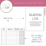 Reader's Notebook Page Divider Tabs for Composition Notebook