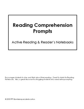 Reader's Notebook Prompts (Thinking While Reading)