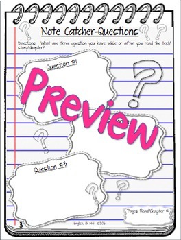 Reader's Notebook, Reader's Response Worksheets