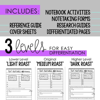 Reader's Notebook Response Pages for Informational Text *HALF-PAGE & FULL-PAGE*