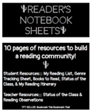 Reader's Notebook Sheets