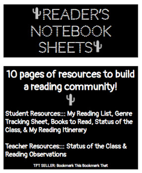 Reader's Notebook Sheets