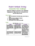 Reader's Notebook Strategy - Characters Face Challenges