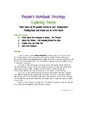 Reader's Notebook Strategy - Exploring Theme