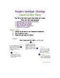Reader's Notebook Strategy - Powerful Plot Points