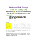 Reader's Notebook Strategy - Write Off a Sticky Note - A-Ha